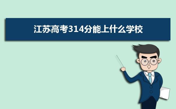 2021江苏高考314分能上什么学校