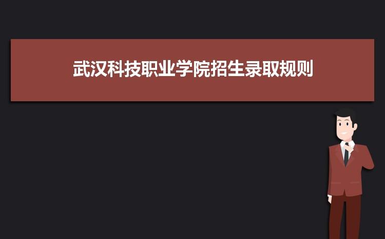 武汉科技职业学院招生录取规则和录取条件顺序政策解读2022参考