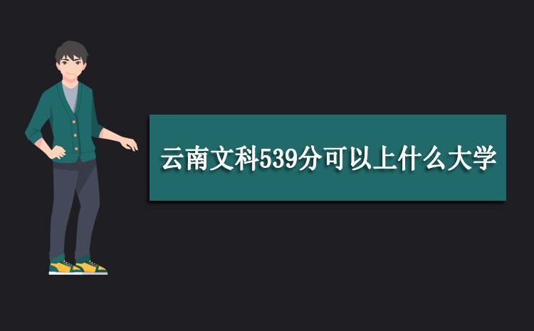 2020年云南文科539分可以上什么大学,高考539分能报考哪些学校