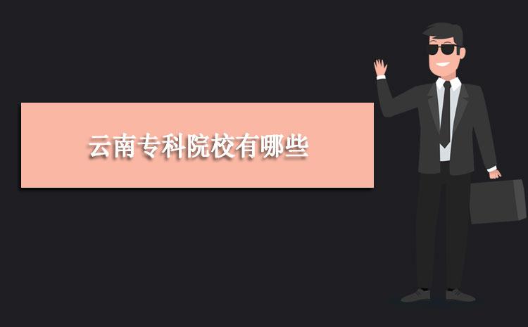 2020年云南专科院校有哪些及录取分数线排名