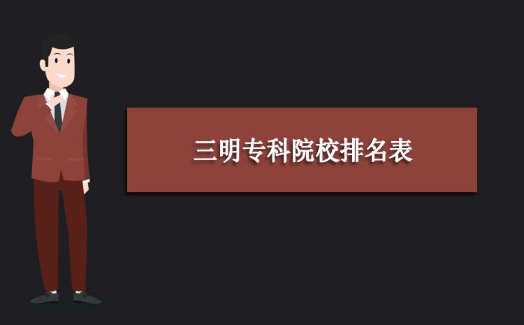 2020年三明专科院校排名表,三明专科院校录取分数线排行榜